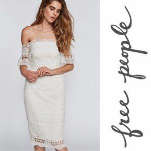 Free People Saylor • Mariah Lace Crochet Dress L